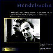 MENDELSSOHN - PIANO CONCERTO NO. 1 Art cover